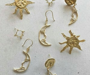 gold, moon, and accessories image
