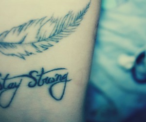 stay strong, feather, and strong image