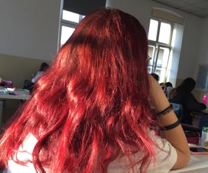 girl, redhair, and hairgoals image