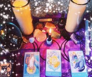 candles, sage, and tarot image