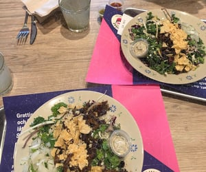 food, salad, and taco image
