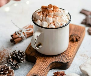 marshmallow, cocoa, and drink image