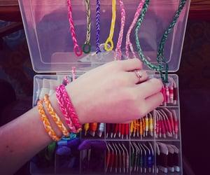 bracelet, colorful, and fashion image
