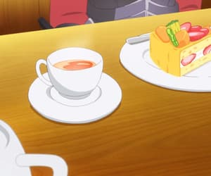 anime, cake, and tea image