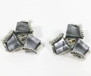 etsy, silver tone, and fashion image