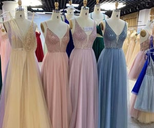dresses, evening dress, and gown image