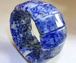 etsy, denim look, and blue white bracelet image