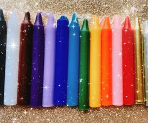 candles, rainbow, and spells image