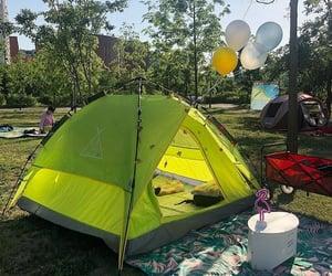 camping, korea, and seoul image