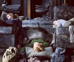 harry potter, hermonie granger, and ron weasley image