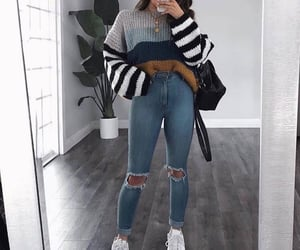 jeans, ootd, and outfit image