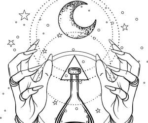 art, line art, and magick image