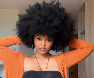 Afro, natural hair, and beauty image