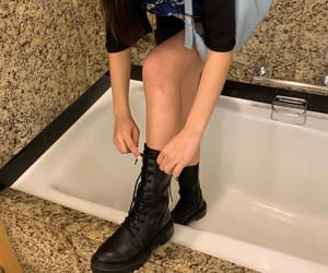 bath, boots, and legs image