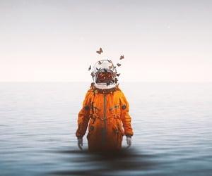 wallpaper, astronaut, and astronauta image