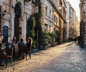 city, travel, and cafe image