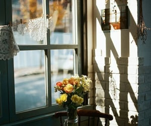 flowers, window, and vintage image