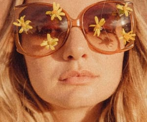 aesthetic, flowers, and sunglasses image