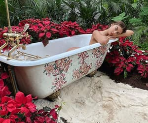 bathtub, beauty, and brown hair image
