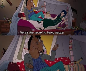 quotes, bojack horseman, and happiness image