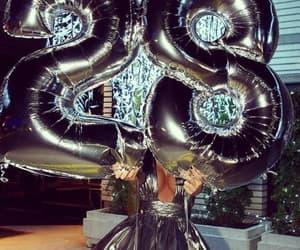balloons, dress, and gray image