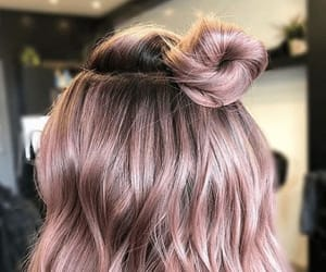 colored, dye, and hair image