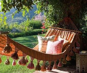 hammock, nature, and summer image