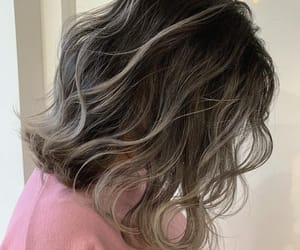 curly, dye, and wavy image
