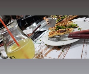 lemonade, pizza, and relaxation image