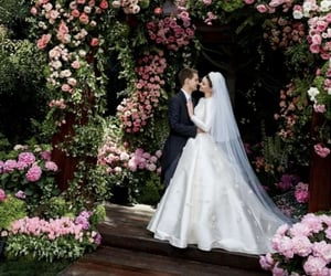 couple, weeding, and cute image