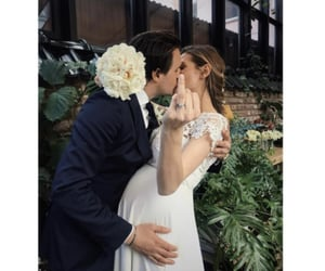 couple, weeding, and flowers image