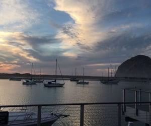 beach, california, and sky image