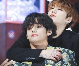 v, jungkook, and jeon jungkook image