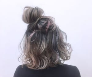curly, hair, and dye image