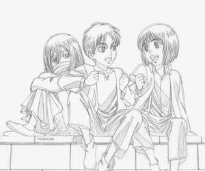 anime, ema, and armin image