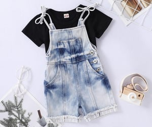 baby clothes, overalls, and cute image