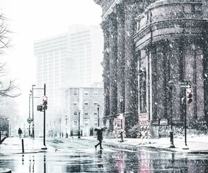 cities, snowing, and city image