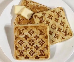 food, Louis Vuitton, and breakfast image