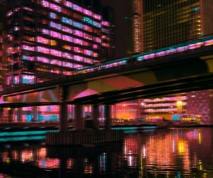 aesthetic, lights, and night life image