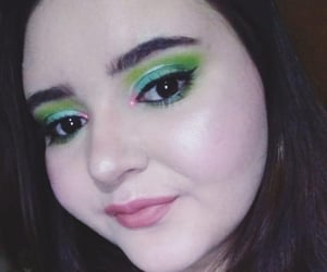 green, verde, and makeup image