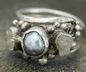 canada, stacking rings, and sterling silver image