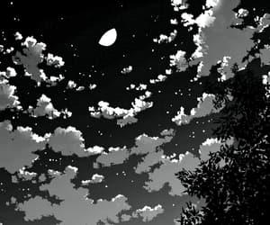 clouds, manga, and skies image