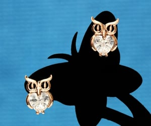 cute owl, for girls girlfriend, and fashion stud earrings image