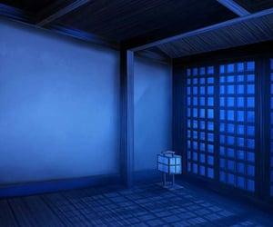 anime, blue, and night image