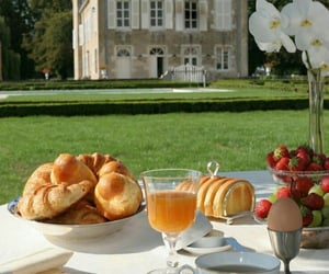 breakfast, food, and flowers image