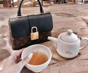 bag, drink, and tea image