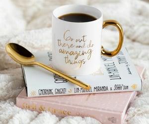 book, coffee beans, and coffee mug image