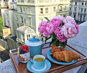 flowers, food, and breakfast image