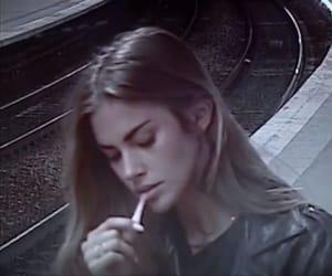 cigarette, girl, and photo image