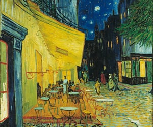 van gogh and cafe terrace at night image
